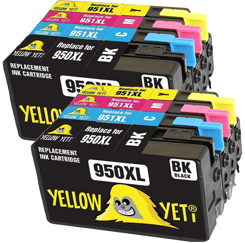 8pcs Compatível 950XL 951XL Para HP950 do cartucho de tinta para HP Officejet Pro 950 951 8600 Mais 8610 8640 8660 8620 8630 8625 Printer