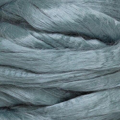 Шерсть для валяния вискоза 100%, 50 гр. (0439 серый)