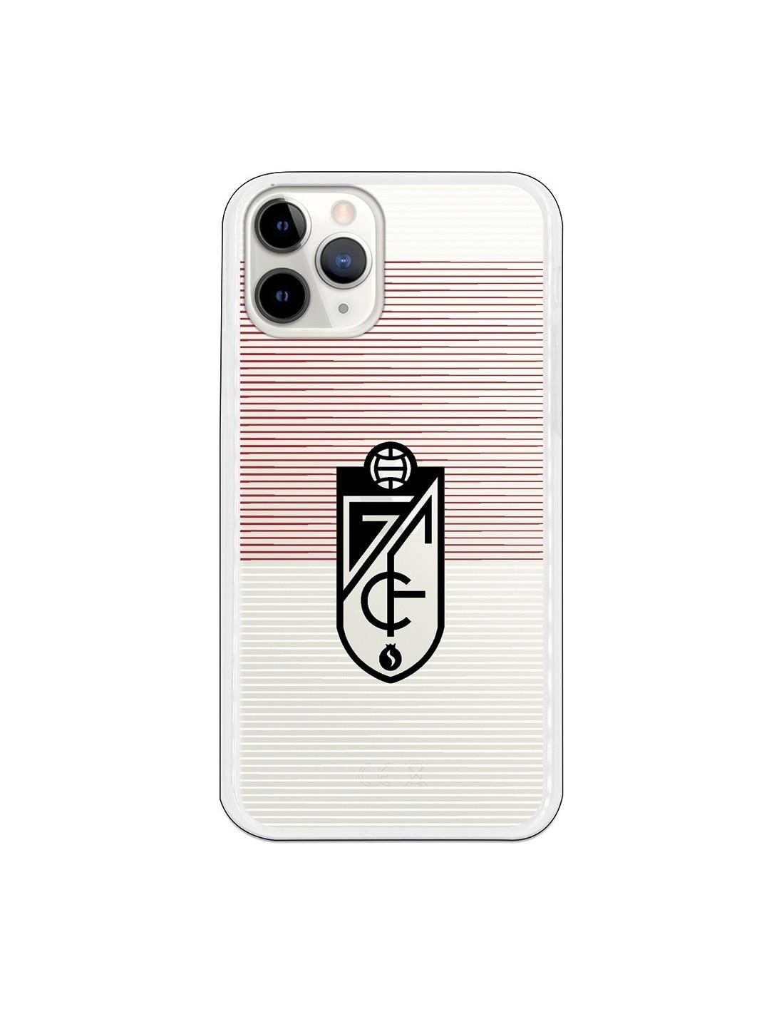 Funda para iPhone 11 Pro del Granada Líneas Blancas y Rojas - Licencia Oficial Granada CF