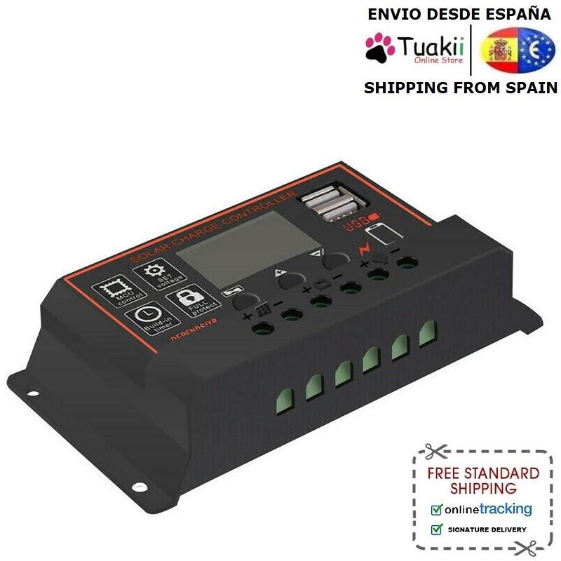 Charger Controller Regulator 30A PWM battery charger USB 12V 24V