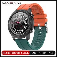 MAFAM MX5 Bluetooth Call Smart Watch Men 1.3inch Custom Dial Fitness Tracker IP68 Waterproof Smartwa