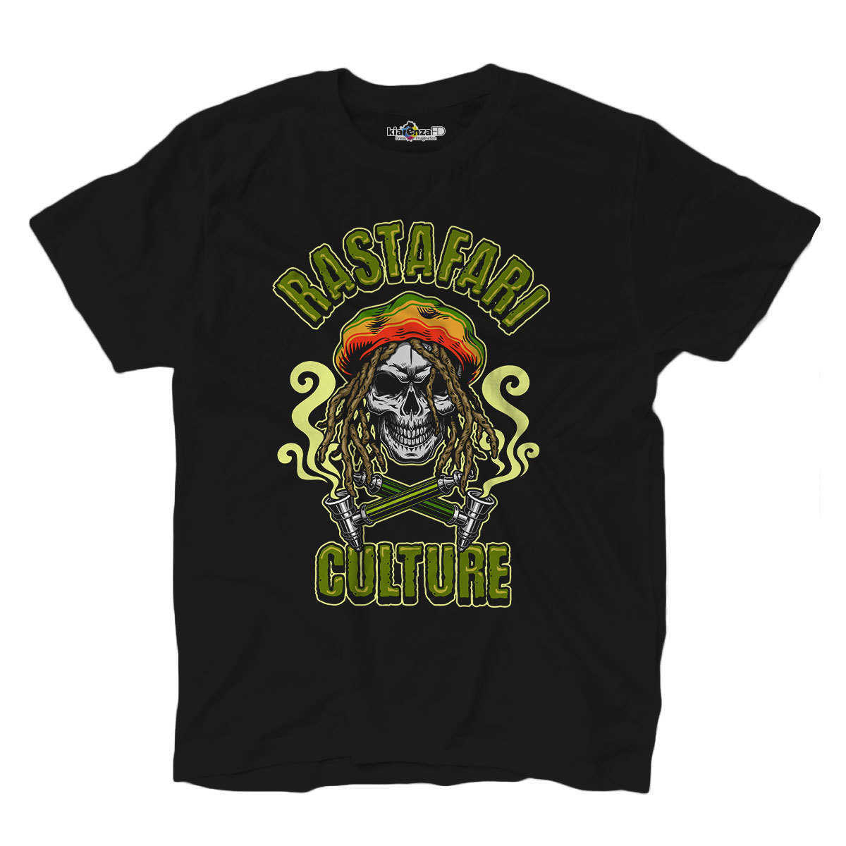 T camisa camiseta Rasta cultura cráneo Reggae Ganja Mary Grunge S negro