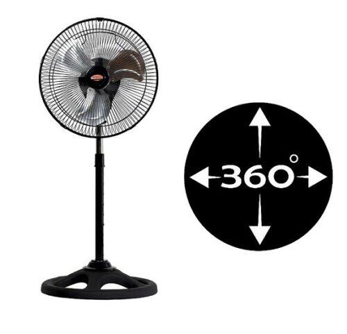 """Suporte ventilador de mesa metal 65 w 12 """"polegadas giratória 360 balanço"""