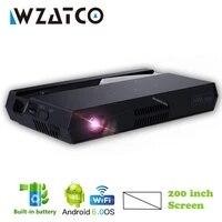 WZATCO     MINI projecteur DLP Full HD 1080P MAX 4K  200 pouces  intelligent  Android  WIFI  Home cinema  3led