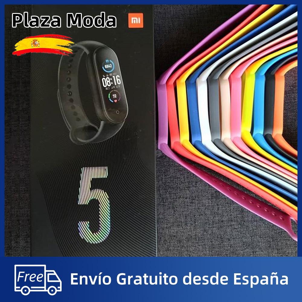 Correa Mi Band 5 Pulsera Xiaomi Mi Band 5 Correa Silicona Nylon Multicolores Envío Gratis desde España