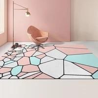 nordic luxury carpet geometry splicing living room sofa rug bedroom bedside 50x80cm machine washable 3d ins print mat