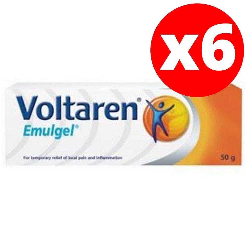 Voltaren-جل محاكي لعلاج التهاب المفاصل ، فولتارو ، 50 جرام ، جل ديكلوفيناك لتخفيف الآلام ، 6 قطعة