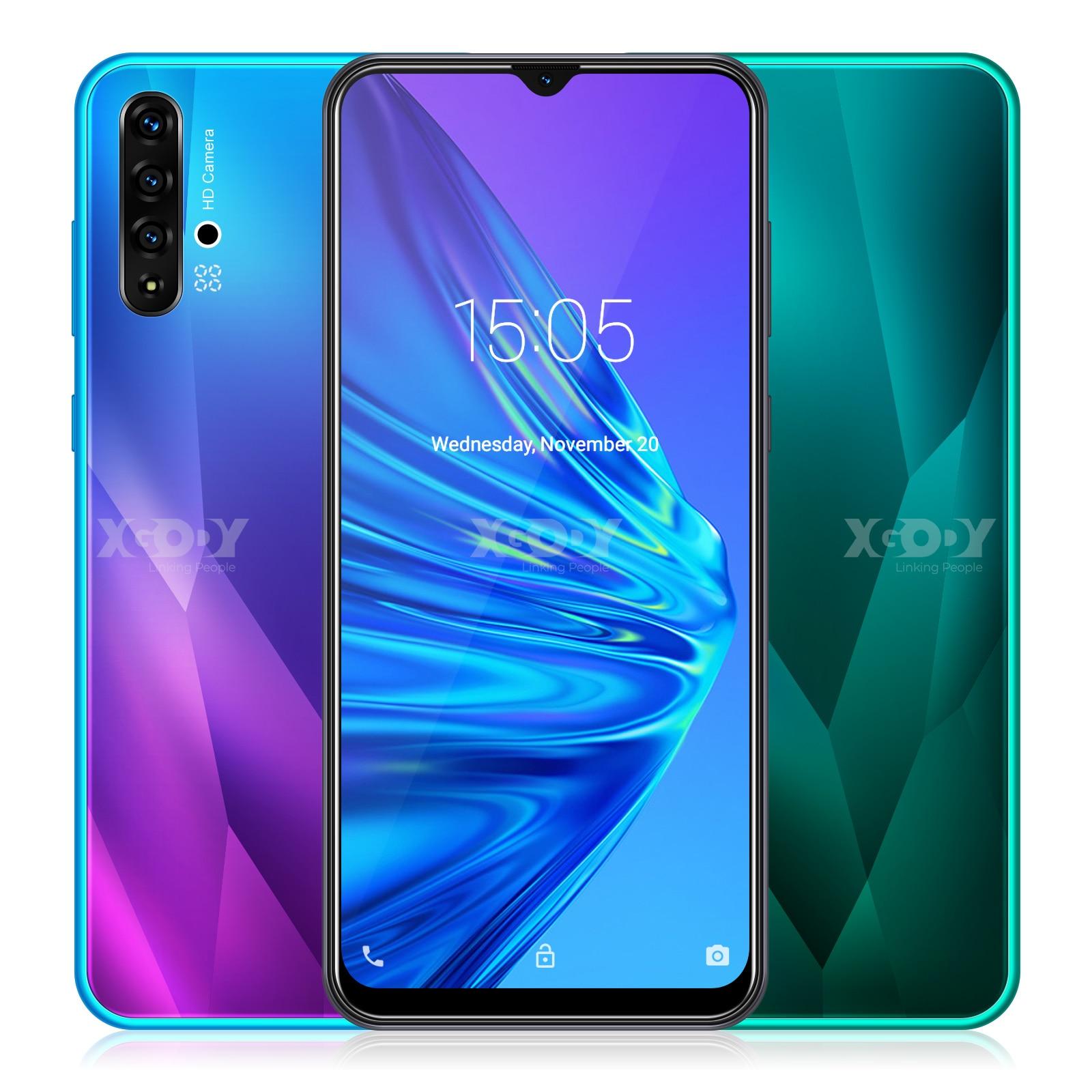 XGODY 6,5 pulgadas de agua teléfono inteligente Android 9,0 1GB 4GB MTK6580 Quad Core MP 3000mAh Cámara teléfonos móviles 3G GPS WiFi teléfono móvil