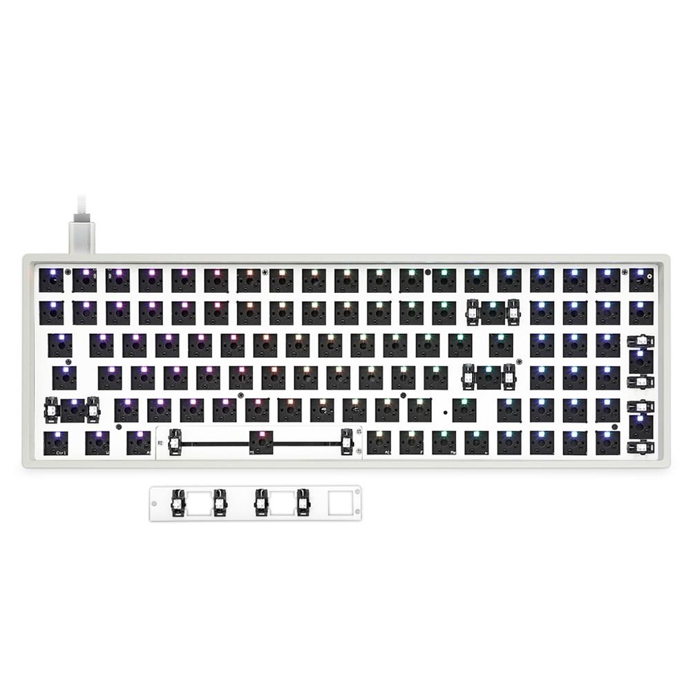 EPOMAKER GK96X/GK96XS Hotswap مجموعة اصنعها بنفسك مخصصة ل 96% لوحة المفاتيح splitable مفتاح الفضاء hotswapable ل الكرز ، Gateron التبديل الخ