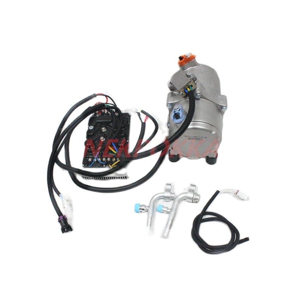 ضاغط تكييف هواء كهربائي 12 فولت 24 فولت ، ضاغط كهربائي معدل جديد بدون استهلاك وقود