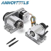 cnc router engraving machine rotational 4th axis rotary table a axis 3 jaw 50mm chucktailstocknema57 stepper motor