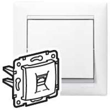 Mechanism socket inform. 1st CN Valena rj45-isdn/internet White. Leg 774441