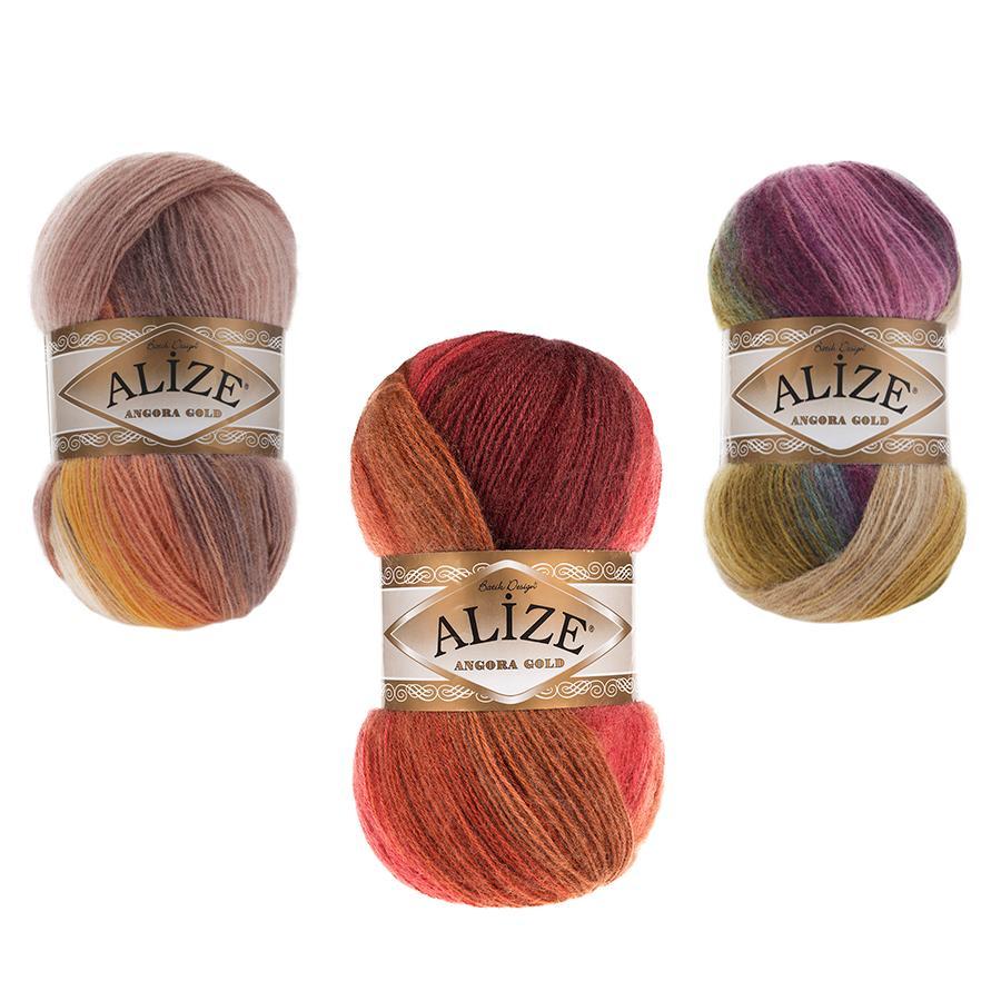 Alize Angora Gold Batik - Hilo de Batik dorado, 100g-550m, lana de...