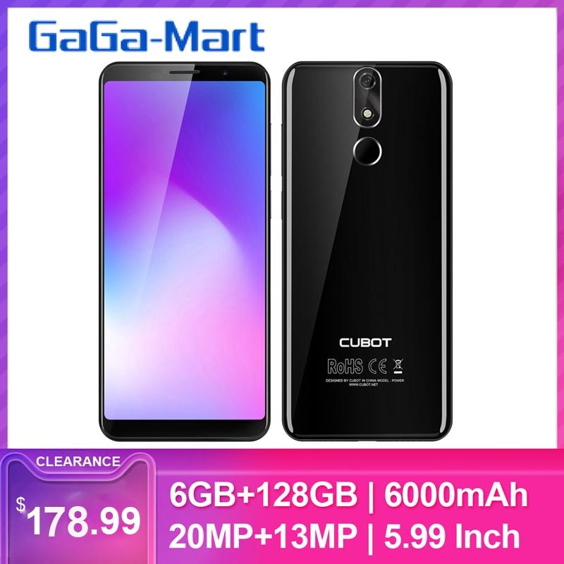 CUBOT POWER 5.99 inch FHD+ Android 8.1 6000mAh Fingerprint Smartphone Dual 4G LTE 6GB128GB MT6763T Octa Core 20MP Smartphone