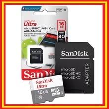 Carte Micro sd Sandisk Ultra 16 go dur MicroSDXC UHS-1 adaptateur classe 10 +
