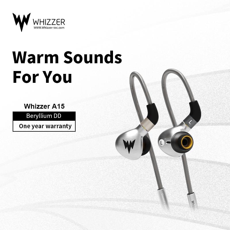 Whizzer-سماعات أذن معدنية عالية الدقة ، سماعات أذن باس ، Hi-res ، مع موصل MMCX ، 3.5 مللي متر