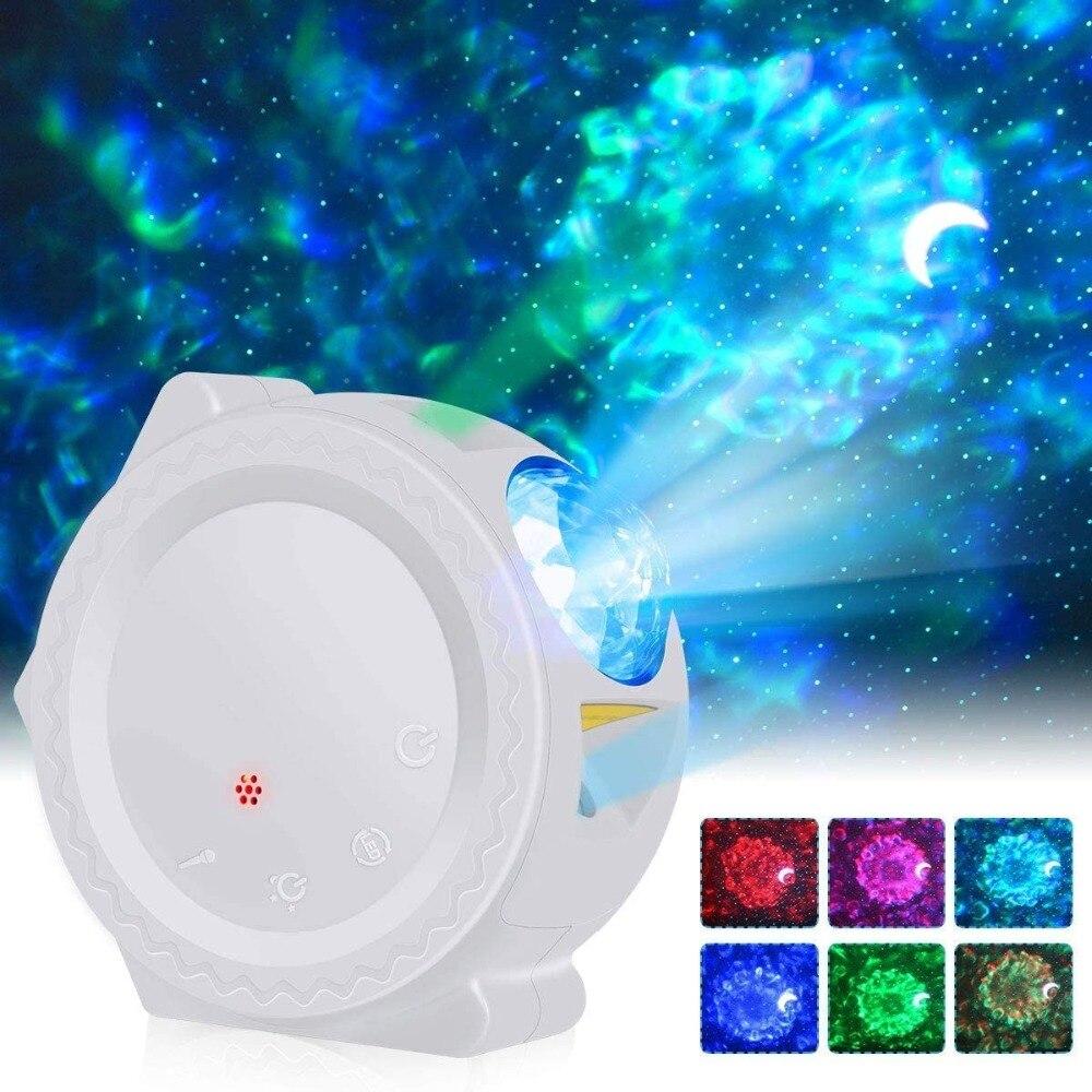 ночник проектор miniland dreamcube 89196 Галактический проектор, проектор звездного неба, светодиодный ночник в виде Луны, звезды, туманности, океанская волна, водная волна, ночник, ...