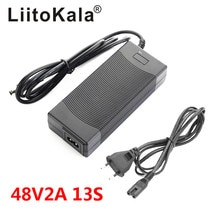LiitoKala 48V 2A charger 13S 18650 battery pack charger 54.6v 2a constant current constant pressure