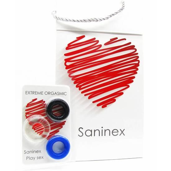 SANINEX Saninex Anillos Extreme Orgasmic ENVIOS DISCRETOS Material Antibacteirano Parejas Estimulador
