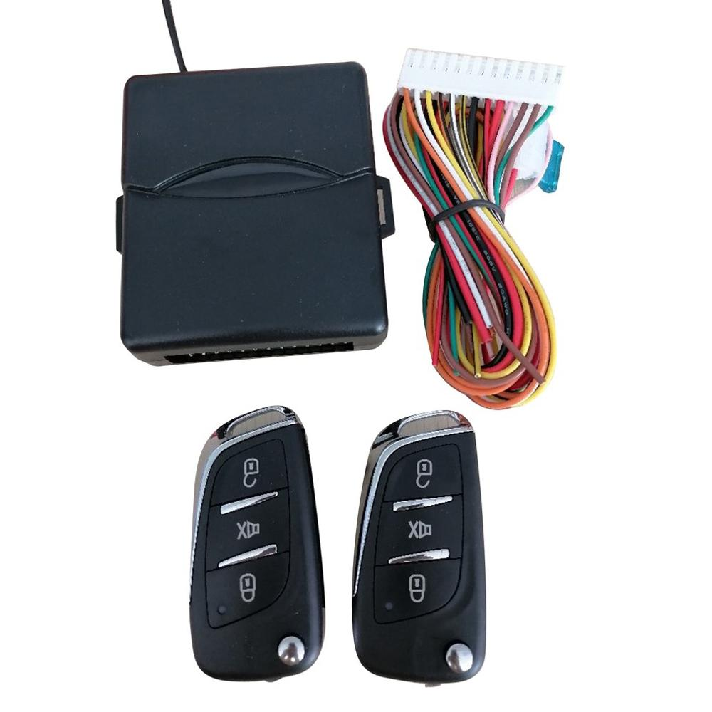 universal pke car alarm system with remote start car push button start passive keyless entry auto central control door lock Universal Car Auto Keyless Entry System Button Start Stop LED Keychain Central Kit Door Lock with Remote Control
