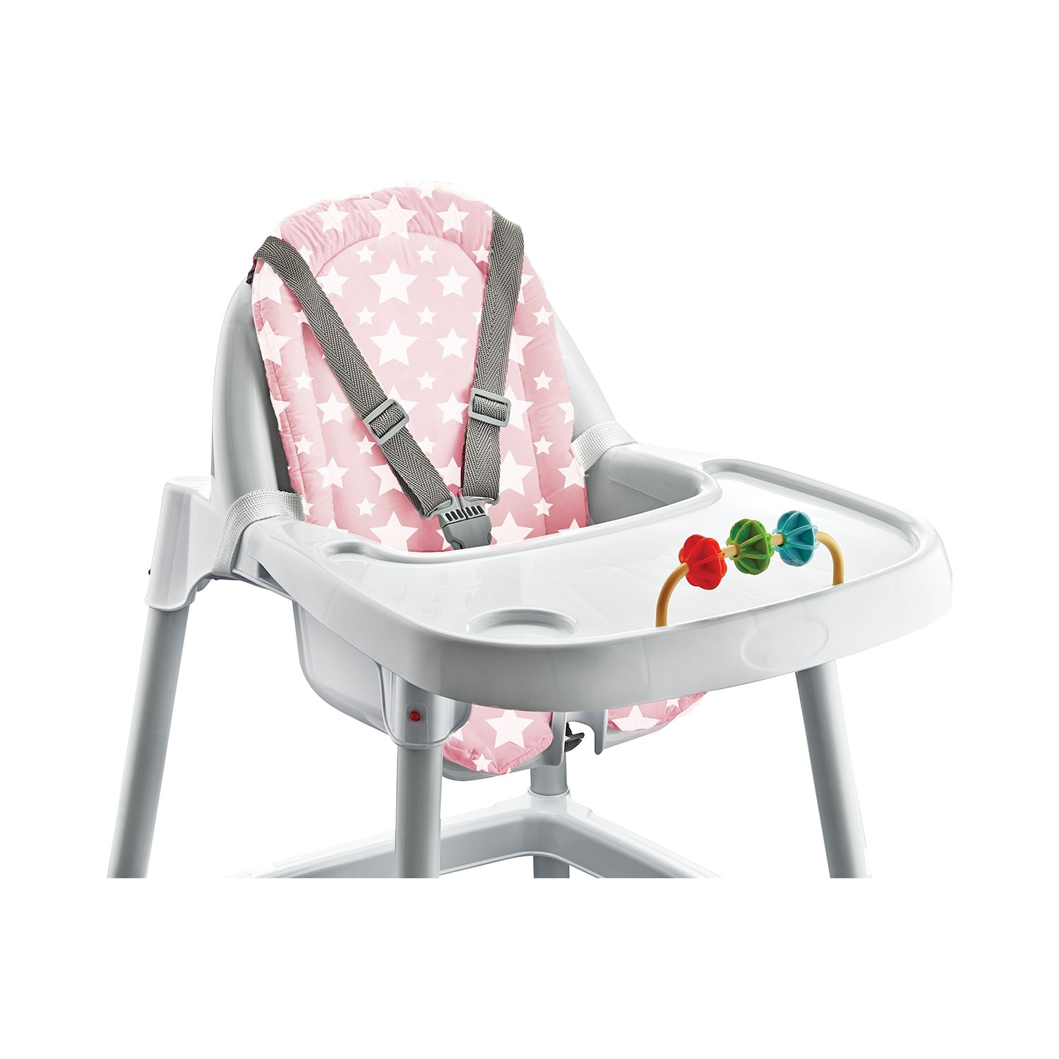 Babyjem 100% Cotton Highchairs Cushions, Soft Feeding Seat Pad, Pink Baby Seat Mat, Cushion for Chair Sofa, Easy to Wash,