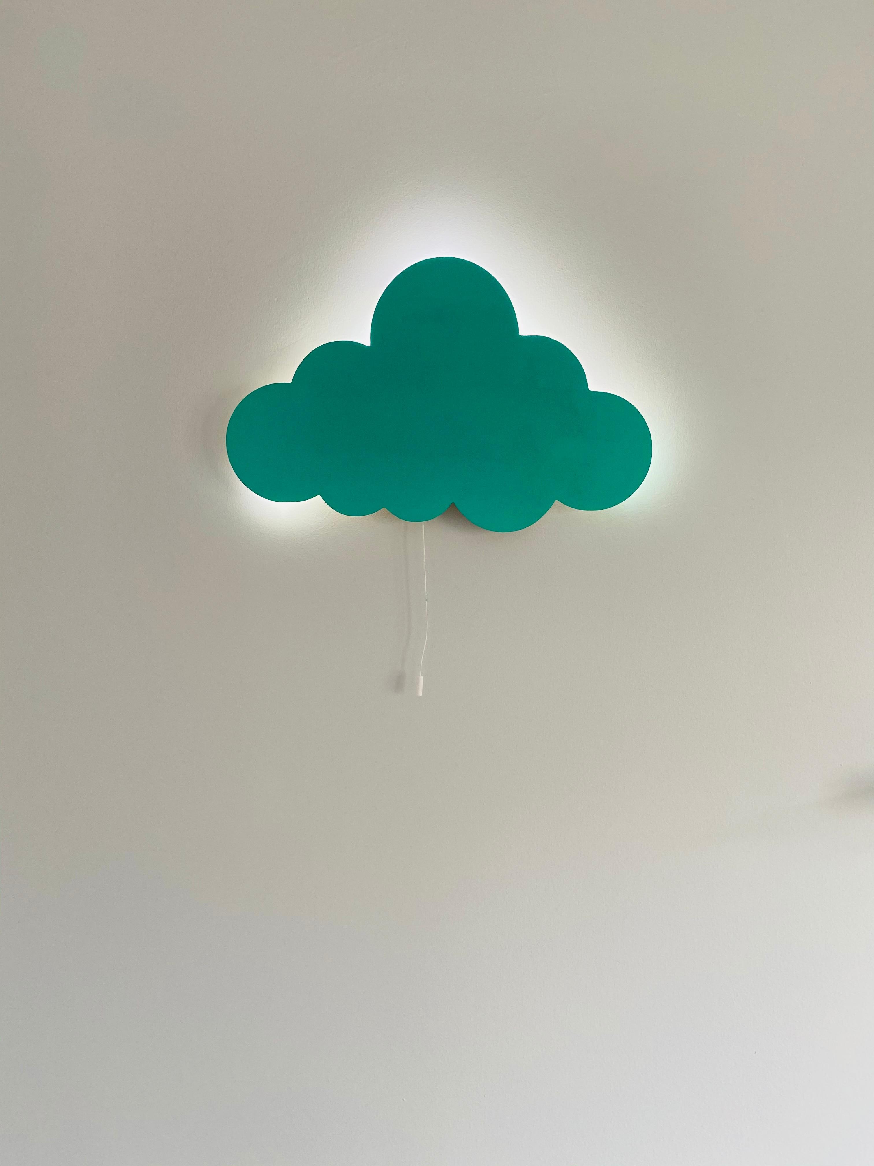 Set of 2- Nursery Night Light, Moon Wall Lamp Cloud Light Children Bedroom Decor Wooden Led Lampion Wooden Lamps Baby Lamp enlarge