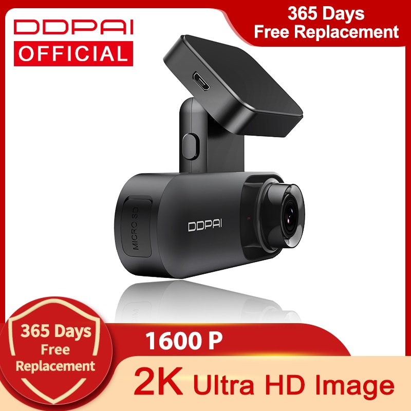 DDPAI Dash Cam Mola N3 1600P HD GPS Vehicle Drive Auto Video DVR 2K Smart Connect Android Wifi Car C