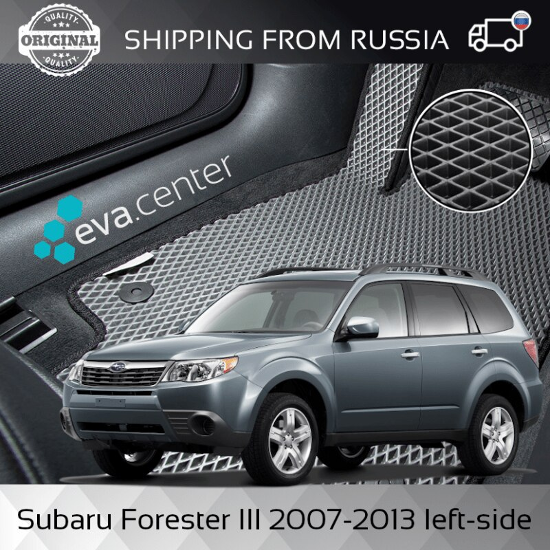 Car Mats Eva on the Subaru Forester III 2007-2013 left steering wheel set of 4x mats and jumper tunnel Eva mats car stickers