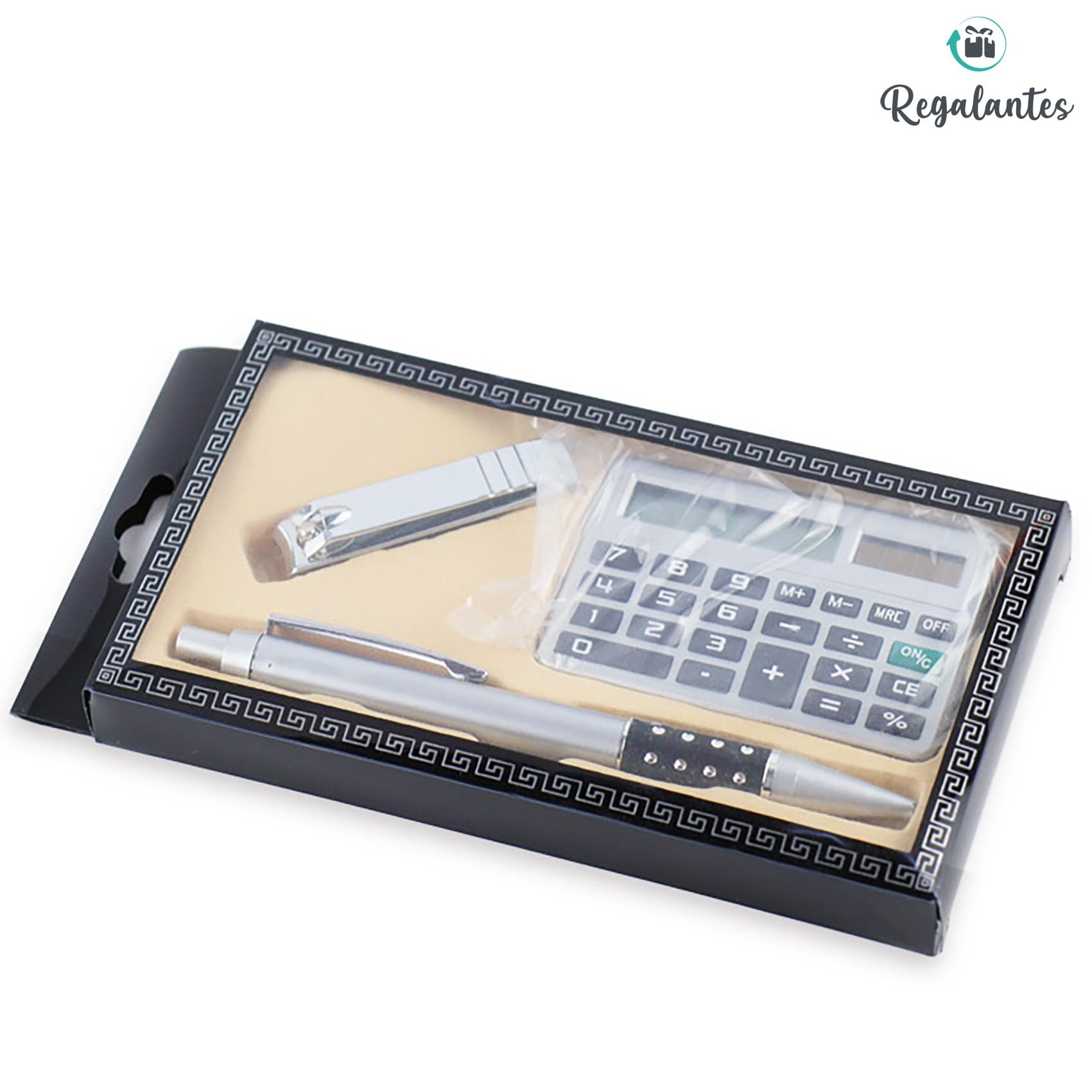 Regalantes, Set de bolígrafo con calculadora, vuelta al cole, set de escritorio, papelería y oficina