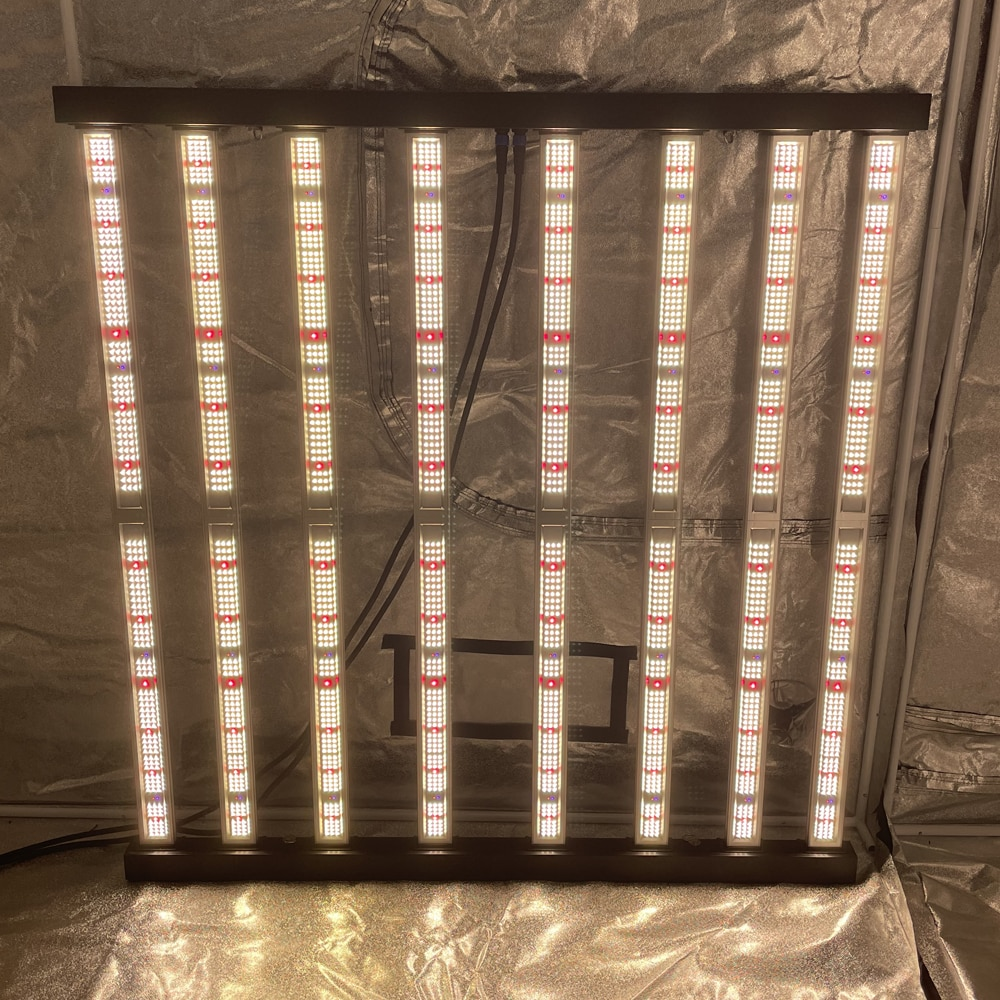 2021 Geekbeast plus 8 bars led grow light strip 630w up to 3.08umo/J efficiency lm301h/b osr 660nmm UV IR dual control MW driver