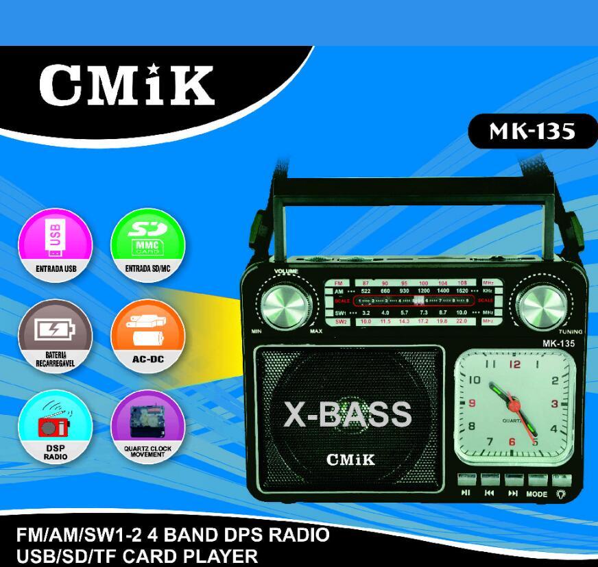 AM FM Multiband SW Medium Wave Shortwave Radio Retro Clock Card Speaker Flashlight Bluetooth Wireless Speakers Flashlight enlarge
