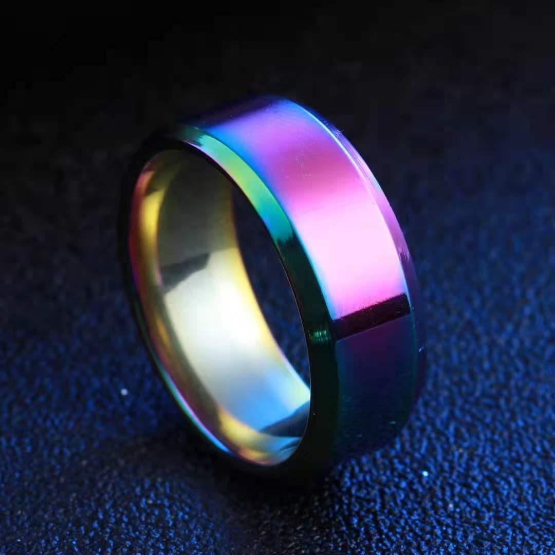 Титановое кольцо мужское матовое обручальное кольцо для женщин обручальное кольцо для вечеринки для студентов полированное кольцо женско...