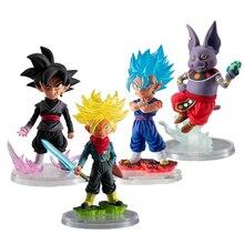 Original Bandai Dragon ball super Gashapon UG The best 02 figure set Black Goku Vegetto Trunks Shanpa Capsule PVC model Figurals