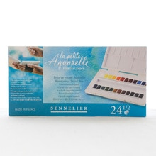 French imported Sennelier Student Grade 12 /24 colors bee acuarelas solid watercolor paint art suppl