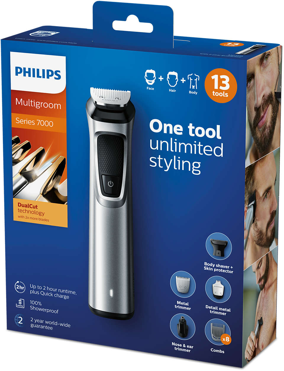Philips Professional 13 in 1 Man Grooming Kit Mg7715/15 - Great for Barbers and Stylists - Run Time cordless 120 Minutes Over enlarge