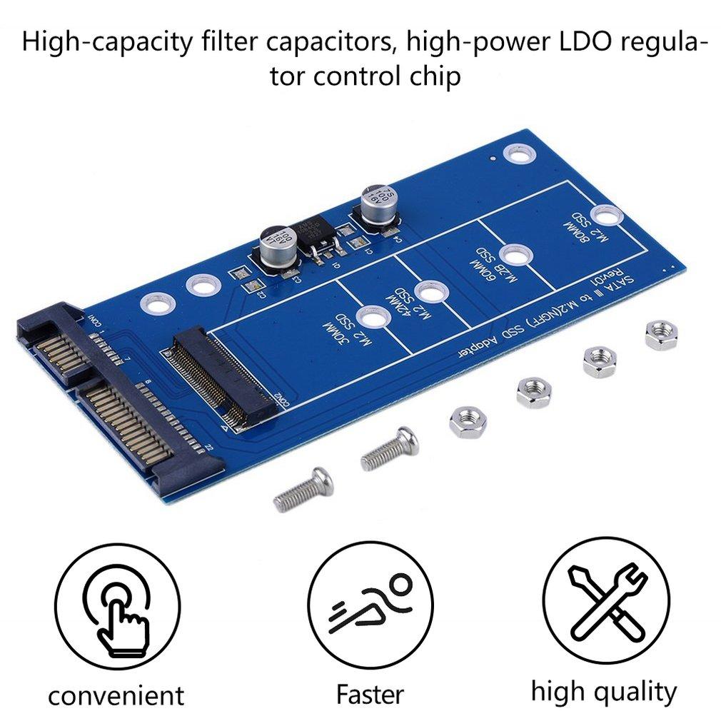 New Portable M2 NGFF SSD SATA3 SSDs To SATA Expansion Card Adapter SATA To NGFF Converter High Performace