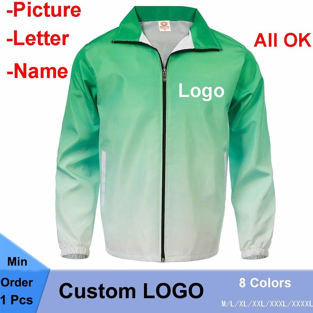 Цена по прейскуранту завода! Изготовленный на заказ логотип, ваш собственный дизайн, с принтом, градиентный цвет, ветрозащитная куртка для м...