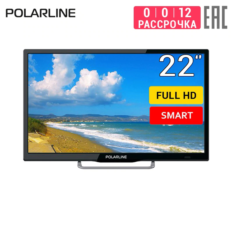 "TV 22 ""POLARLINE 30inchTV 22PL11TC-SM Full HD Smart TV dvb dvb-t dvb-t2 digitais"