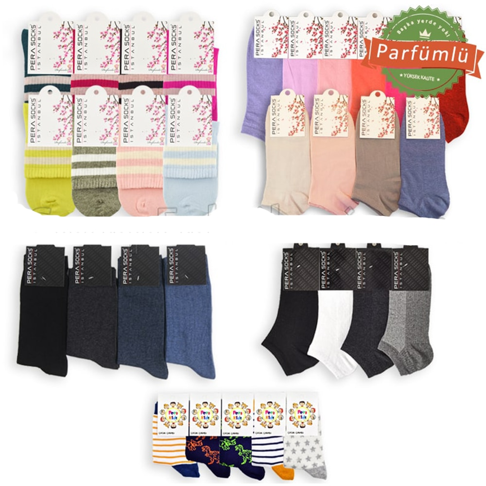 Campaign Mixed Uniseks Socks Package (300 Pairs)
