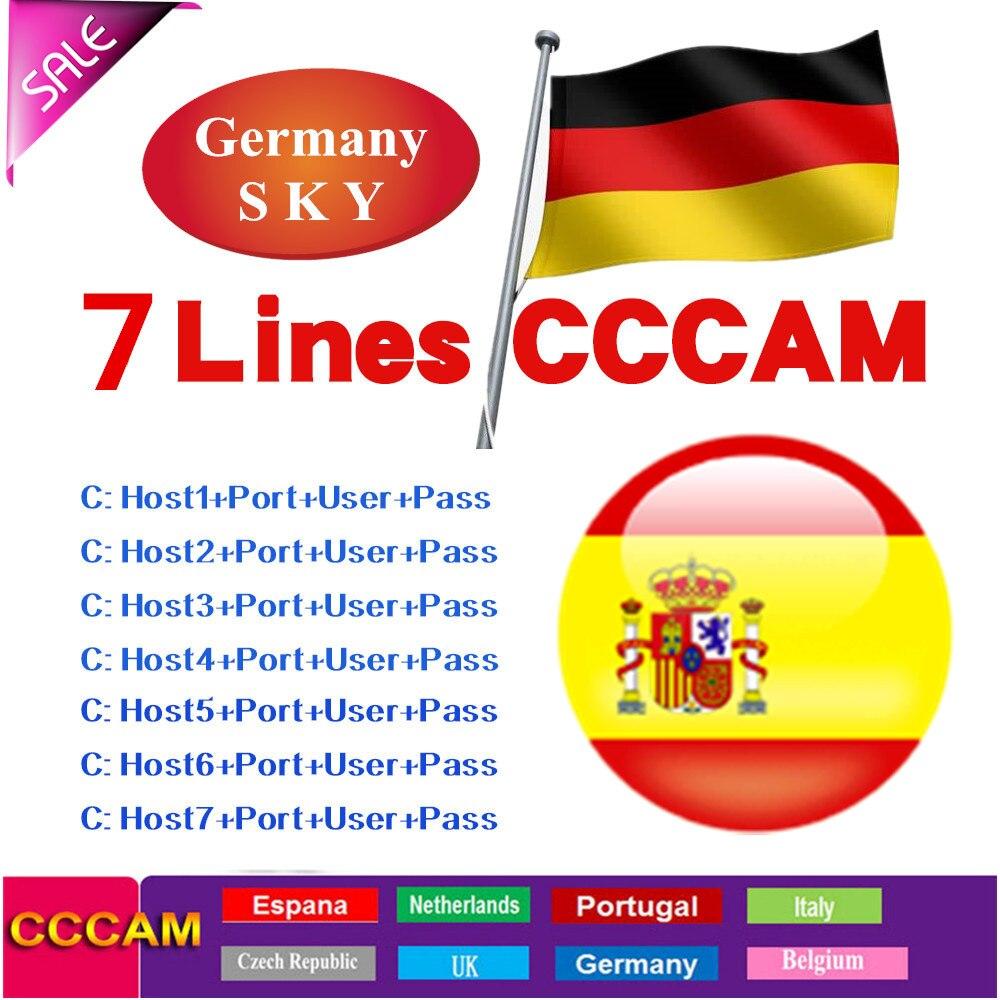 2020Fast  stable Mgcamd CCcam Europe 7 line card for V + Samsat Starsat satellite TV receiver via WiFi USB remote controller