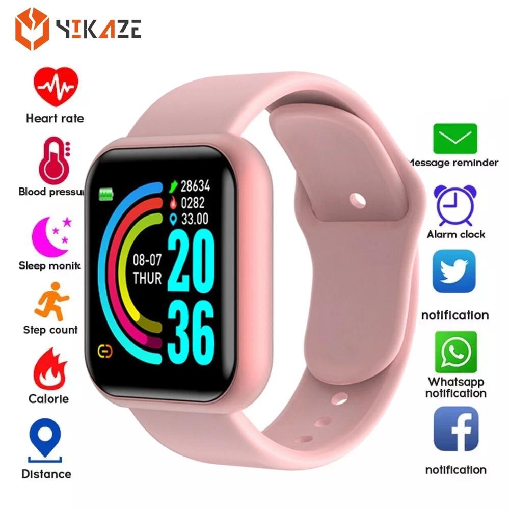 Умные часы Y68 с монитором кровяного давления, умные часы D20, водонепроницаемые спортивные Смарт-часы для Android IOS, Прямая поставка