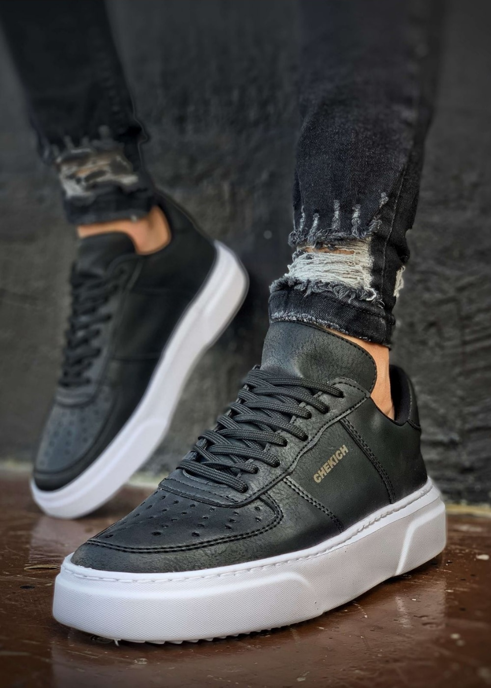 Chekich Thick Bottom Men Shoes Man Sneakers Lightweight Casual Stylish 2020 Trend Autumn Spring S