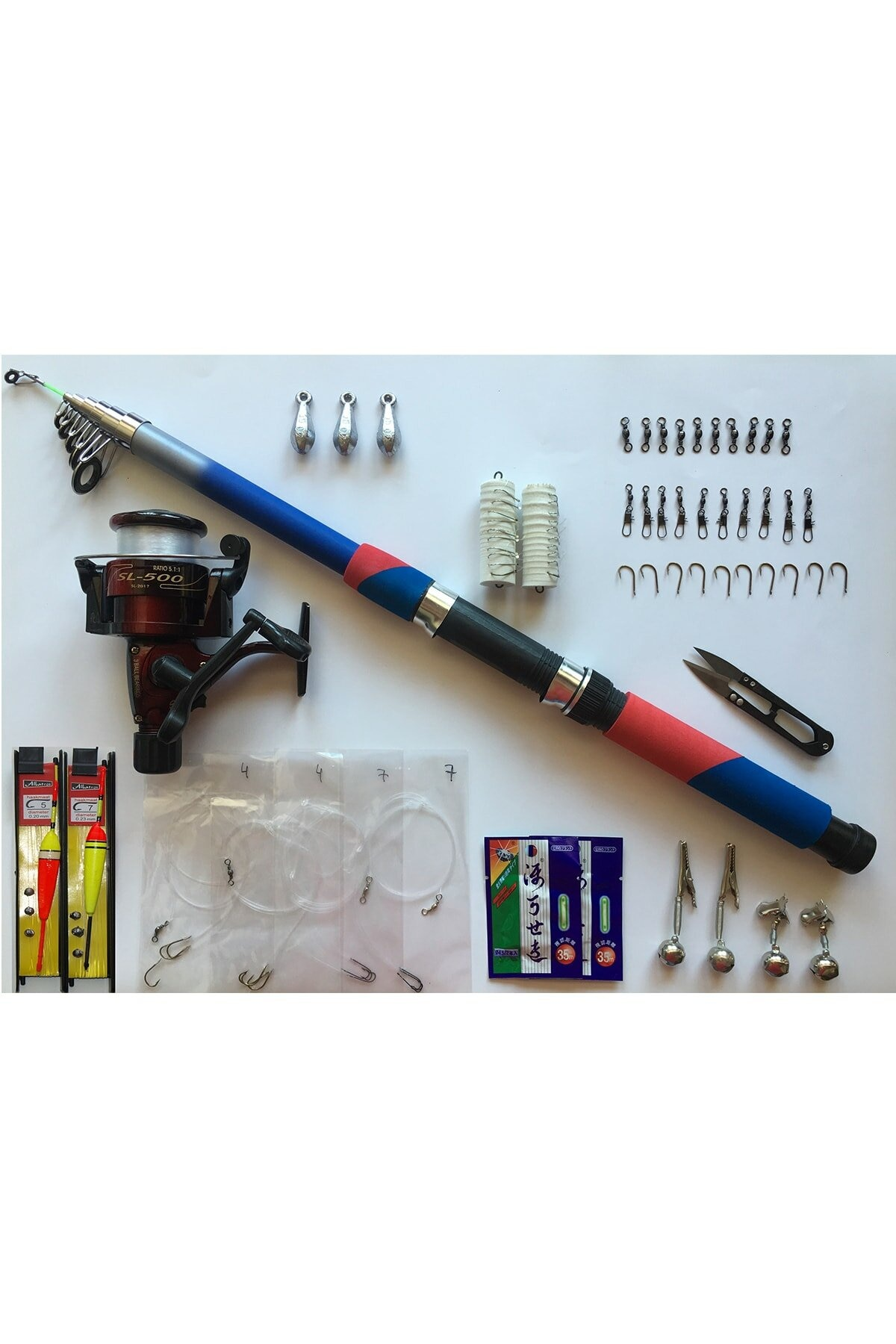 50 piece 1. Quality Fish Fishing Rod Set 2.7 Meters Cane 40 Machine 165 G Easy Portable 4 Layers Fiber enlarge