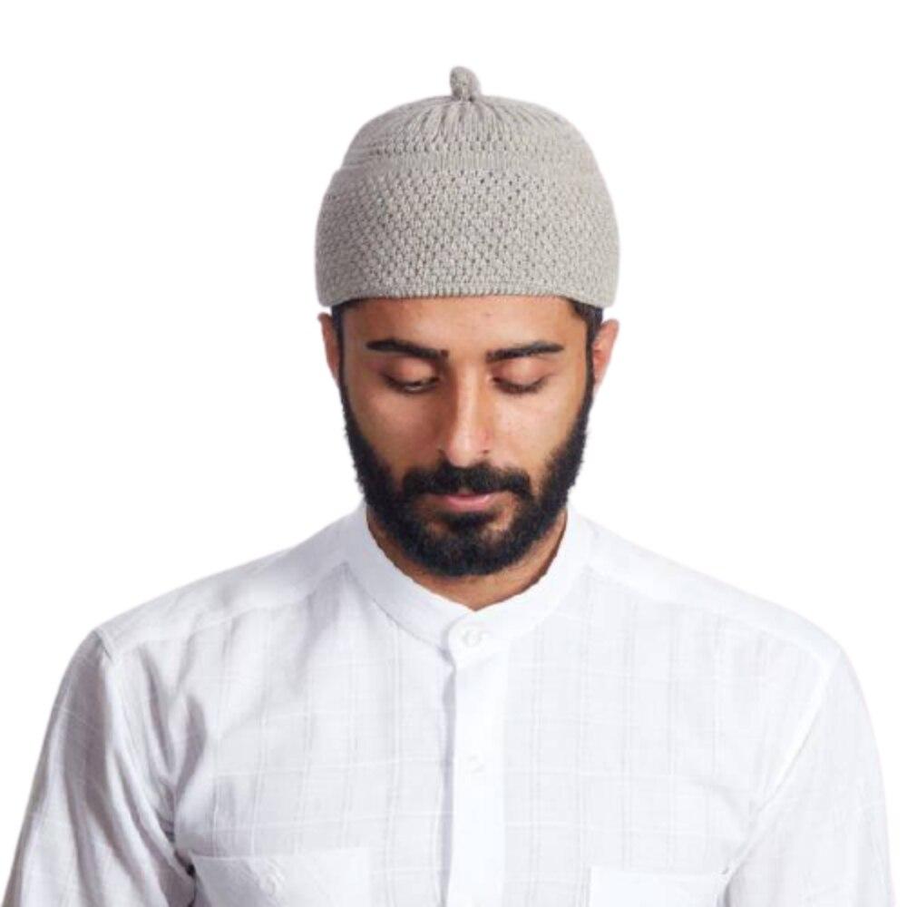 Gorro Beanie Turkish Muslim Islamic Kufi Taqiya Takke Peci Skull Cap Prayer Hat With Solid Colours Bobble  Stretchable