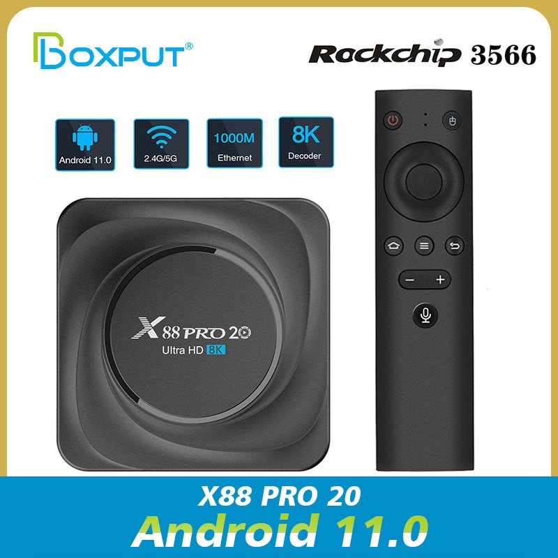 X88 برو 20 RK3566 أندرويد 11.0 المزدوج واي فاي 2.4G/5G 8K الترا HD مشغل الوسائط الإعداد X88 برو 20 Rockchip3566 Netflix حساب صندوق التلفزيون