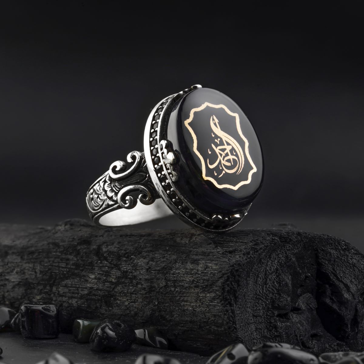 Guaranteed High Quality 925 Sterling Silver personalized name printing  Ring jewelry made in Turkey for men with luxury gift