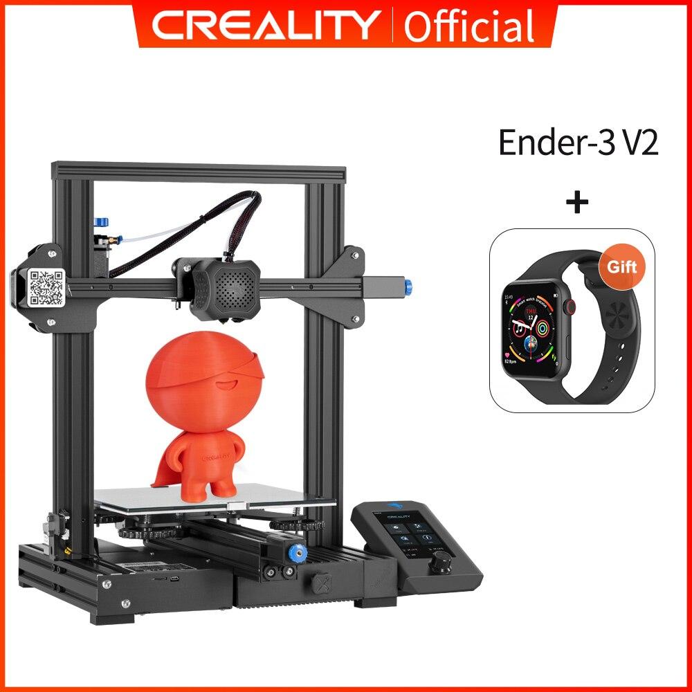 CREALITY 3D Printer Ender-3/Ender-3 Pro/Ender-3 V2 Resume Power Failure Printing silent TMC2208 Stepper Mean Well Power Supply