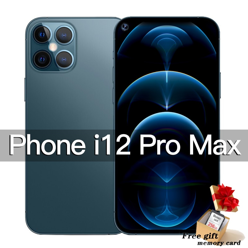 Phone i12 Pro Max 5G Smartphone android 7.2inch Cellphone 256gb global Version smart phone Dual SIM