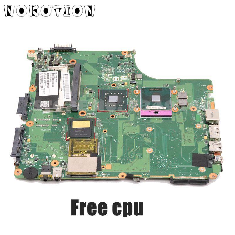 Материнская плата NOKOTION для ноутбука TOSHIBA salellite A300 A305, V000126550 6050A2169901, основная плата GM45 DDR2, ЦП бесплатно