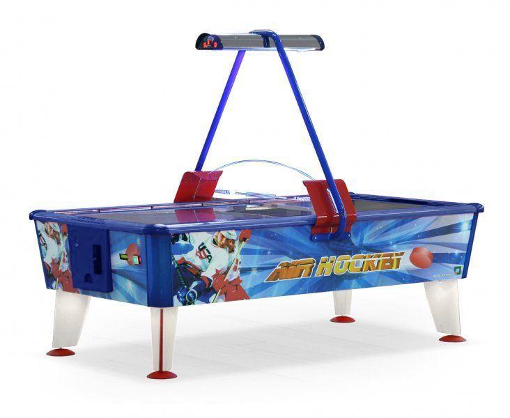 Ice & fire gold air hockey 8 f (vermelho-azul-dourado, receptor de crachá/aceitante de bill)
